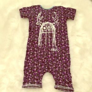 EUC 5/6T Purple Floral Trinny Rags to Raches!